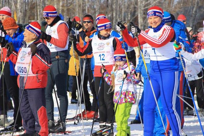 «Лыжня России» вТюмени побила рекорды поколичеству участников