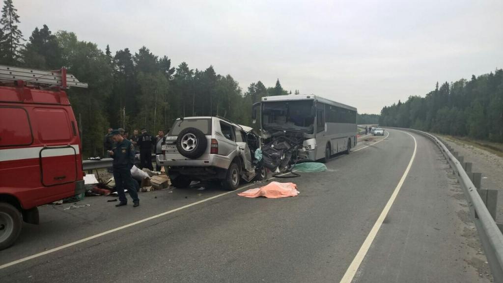 52-летний шофёр, уснув зарулем, въехал вавтобус и умер