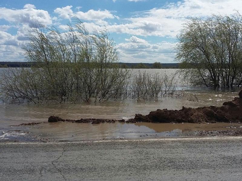 Затопленный район вТюменской области закрыли для движения доконца недели