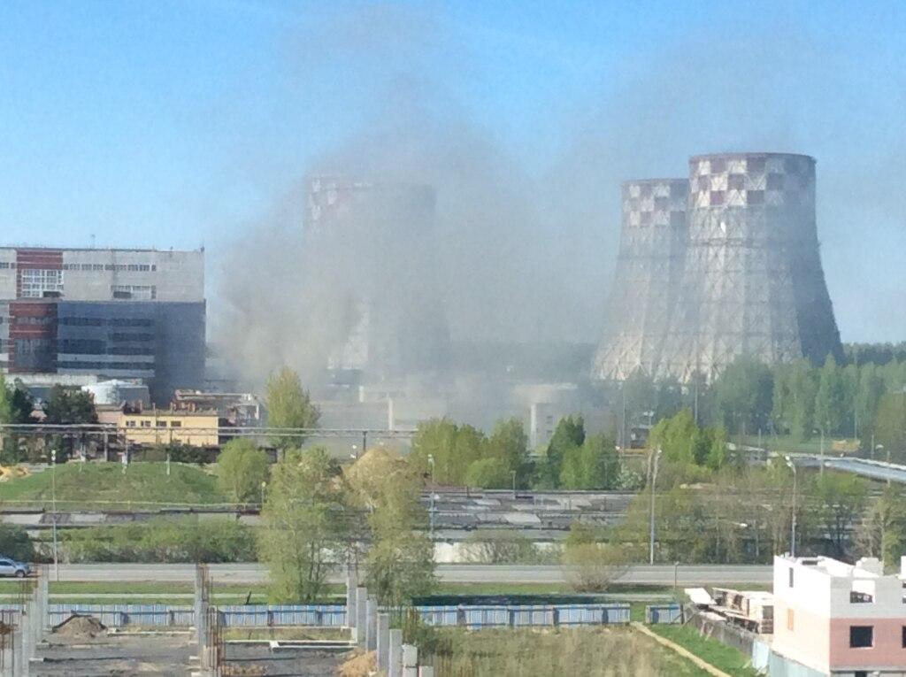 Около ТЭЦ-2 вТюмени произошел пожар