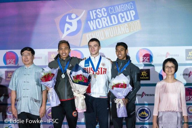 Тюменские скалолазы выиграли этап Кубка мира вКитайской народной республике