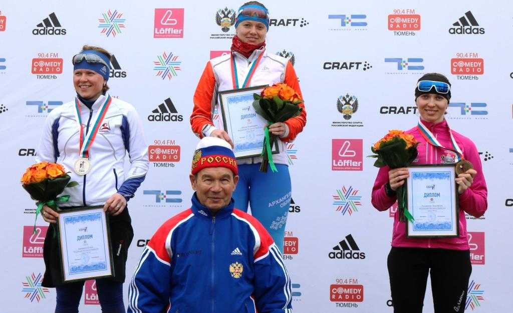 Анастасия Толмачева выиграла бронзу вбиатлонном марафоне страны