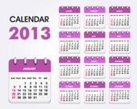 Календарь на 2013 год (vector calendar 2013) Eps 12 Mb.  Скачать без рекламы и ожидания.